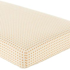 Baby Sheets: Yellow Orange Dotted Fitted Crib Sheet - for a second option.