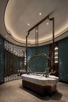 This washroom layout consists of simpleness, custom, modernity, simplicity, modernity as well as even deluxe. All recommended for those who wish to dream in the house in the shower room Bathroom Lighting Design, Modern Bathroom Design, Bathroom Interior Design, Home Interior, Bathroom Designs, Modern Interior, Restroom Design, Toilet Design, Dream Bathrooms