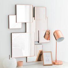 Miroir en métal 66x51 - LEXIE