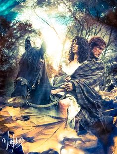 Fan art by Vera Adxer of Jamie and Claire