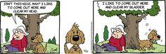 When it comes to #trees, watch where you lean. | Read Lola #comics @ http://www.gocomics.com/lola/2015/07/22?utm_source=pinterest&utm_medium=socialmarketing&utm_campaign=social | #GoComics #webcomic #dogs