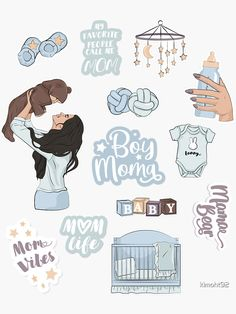"""""""Mother and son, mom life, my favorite people call me mom"""" Sticker by Mobile Stickers, Baby Stickers, Printable Stickers, Cute Stickers, Journal Stickers, Planner Stickers, Homemade Stickers, Tumblr Stickers, Call My Mom"""