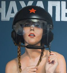 Women of the Revolution  Strongly influenced by communist propaganda and the socialist pictorial realism, the Kathrin Longhurst's works play with contrasts by juxtaposing
