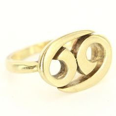 Vintage Cartier 18 Karat Yellow Gold Ying Yang Cocktail Ring Fine Designer Jewelry