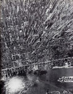 Looking West from the East River, 1944. Andreas Feininger for Life magazine.