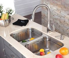Kraus RB-22 Stainless Steel Rinse Basket Stainless Steel Accessory Colander Stainless Steel