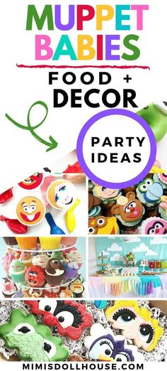 Muppet Babies Party Supplies and Ideas for a Birthday! These Muppet Babies birthday party ideas will make your dreams come true in true muppet fashion. Birthday Party Treats, 1st Birthday Party For Girls, 1st Birthday Party Decorations, Baby Party, Baby Birthday, Muppet Babies, Disney Parties, Party Ideas, Kermit