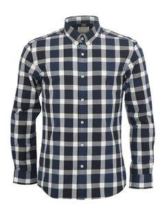 Selected - Tmavomodrá pánská kostkovaná košile  Broadway - 1