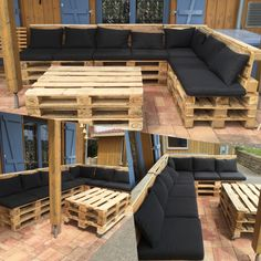 Terrace Lounge pallets #pallets #lounge #diy #selfmade