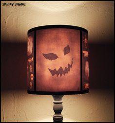 Evil Pumpkin lamp shade - halloween decor, dark decor, horror movie, classic horror, rockabilly decor, geekery on Etsy, $64.74
