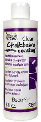 Chalkboard Coating turns any surface into a chalkboard...