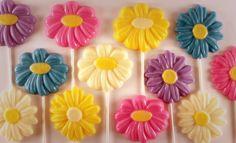 12 - Daisy Flower  Chocolate Suckers. $18.95, via Etsy.