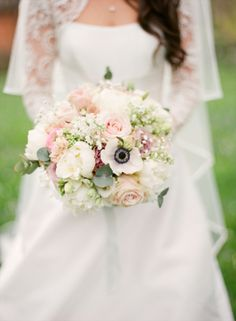 Pink and White Bridal Bouquet | photography by http://anetamak.com/ | floral design by http://blush-floral-design.com/