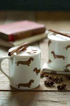 Wire Haired Dachshund mugs by Emily Bond