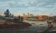 A very early painting showing the split in the river, the Ouse and the river Foss. York Minster in the background with the Castle to the fore. York Minster, Art Uk, Castle, History, Painting, River, Historia, Painting Art, Castles