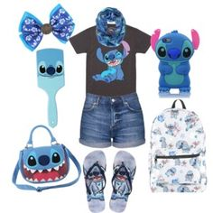 A fashion look from April 2016 featuring disney shirts, short shorts and beach sandals. Browse and shop related looks.