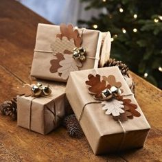 Loving brown paper packages.  I do this so FUN and great to decorate!