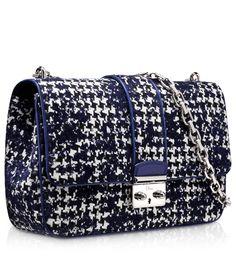 """LADY DIOR - Black and blue tweed """"Miss Dior"""" bag"""