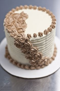 Buttercream Cake- smooth top, ridged side