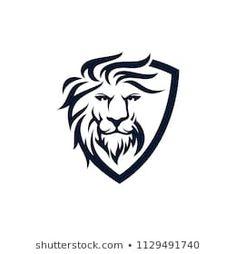 Imágenes, fotos de stock y vectores sobre Lion Logo | Shutterstock Tribal Arm Tattoos, Leo Tattoos, Logo Lion, King Queen Tattoo, Lion Sketch, Lion Vector, Lion Wallpaper, Lion Design, Luxury Logo