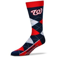69273e8ccb8 Washington Nationals For Bare Feet Argyle Crew Socks