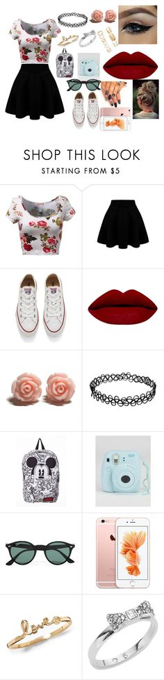 """""""tumblr ?"""" by maddyholloway23 on Polyvore featuring Converse, Ray-Ban, Kate Spade, Forever 21, women's clothing, women, female, woman, misses and juniors"""