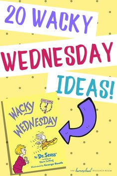 20 simple, low prep Wacky Wednesday ideas to help create a memorable and wacky day for your kids! Find Wacky Wednesday STEM activities, wacky crafts, and wacky surprises! Dr Seuss Activities, Preschool Activities, Preschool Ideas, Family Day Activities, Teaching Ideas, Craft Ideas, Dr Seuss Week, Dr Suess, Dr Seuss Crafts