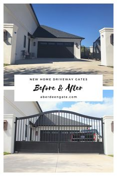 Gate and Fence Design Entrance . Gate and Fence Design Entrance . Pin On Ranch Gates Entrance Iron Gate Design, House Gate Design, Gate House, Fence Design, Home Gate, Front Yard Fence, Front Gates, Entrance Gates, Driveway Entrance