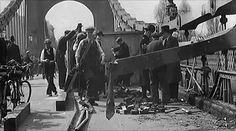 Hammersmith Bridge bombed 1939, on the eve of the Boat Race.