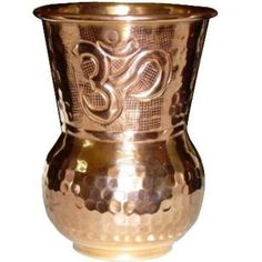 Ayurveda Copper Drinking Cup by OmHealthyLifestyle,  A general healthy routine for all doshas is to fill up a copper cup with water at night and drink it first thing in the morning. This washes the GI track, flushes the kidneys, and stimulates peristalsis.