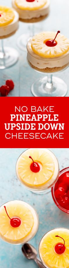 No Bake Pineapple  Cheesecake gives you a sweet taste of pineapple in every bite. So delicious and perfect for summer!