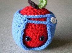 Amigurumi Apple With Apple Cozy Crocheted With by NotJustCozies, $18.00