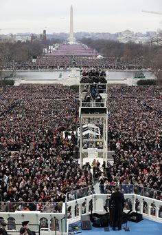 Another view of the crowd on hand for Barack Obama's 2nd Inauguration. (Rob Carr for Getty Images)