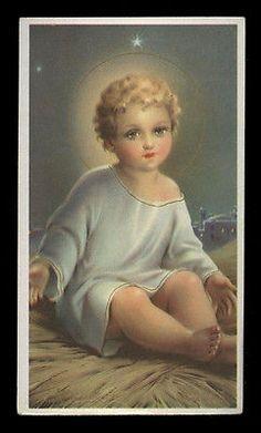 "santino-holy card""""ediz. AR serie C.107 GESU' BAMBINO"