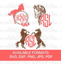 Horse SVG DXF jpg png pdf cut file Horse Lover by DDbyRhondaLynn