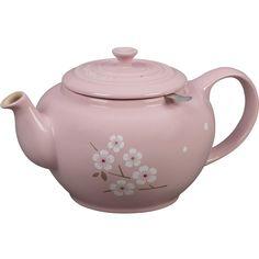 Sakura Large Teapot (€61) ❤ liked on Polyvore featuring home, kitchen & dining, teapots, white tea pot, cherry blossom tea pot, white teapot and cherry blossom teapot