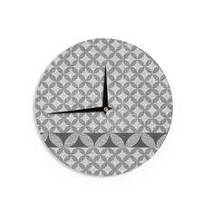 Kess InHouse Theresa Giolzetti 'Cucumber' White Wall Clock