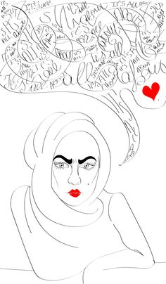 It's all about love. #graphics #woman #redlips #love #itsallabout