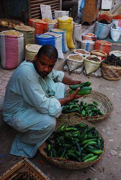 Vendor in Luxor Market, Egypt
