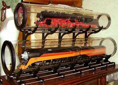 機関車用ディスプレイ台(自作品)  DB03 (ASTER製)  Southern Pacific Daylight #4449(ASTER製)
