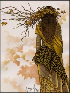 """""""You don't live on the earth, you are walking through the earth."""" —Rumi (Artist: Trina Schart Hyman) ..*"""
