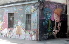 street art santiago de chile barrio yungay brasil graffiti
