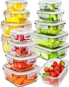 Glass Food Storage Containers With Locking Lids 18 Piece Glass Food Storage Container Set W Locking Lids Airtight