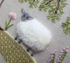 :: sheep crewel embroidery the floss box #crewelembroidery