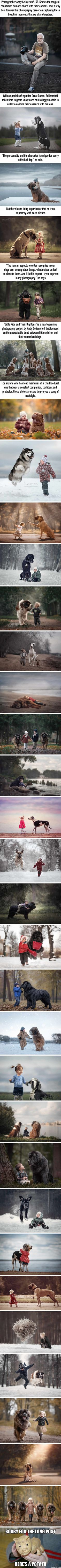 """""""Little Kids And Their Big Dogs"""" Shows The Magical Bond Between Kids & Canines (Andy Seliverstoff)"""