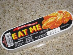 """Eat Me"" dates from childhood Christmas' .remember the plastic stick that you had to eat them with? My Mum loved these.and I hated them! 1970s Childhood, My Childhood Memories, Retro Recipes, Vintage Recipes, Christmas Past, Retro Christmas, Just In Case, Just For You, I Remember When"