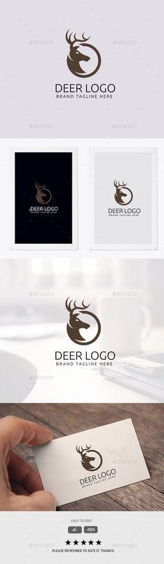 Deer #Logo - Animals Logo Templates Download here:  https://graphicriver.net/item/deer-logo/20043879?ref=alena994
