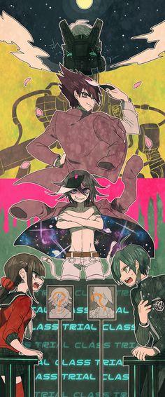 Kiibo, Kaito Momota, Oma Kokichi, Maki Harukawa and Saihara Shuichi // New DanganRonpa V3 Killing Harmony
