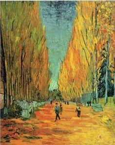 Alychamps - Vincent van Gogh, 1888  Arles-sur-tech, France   Private Collection