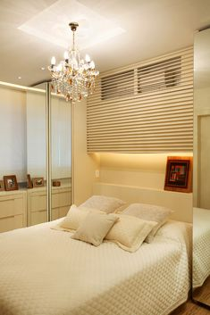 Apartamento Barão da Torre / Paula Neder #bed #bedroom #lighting